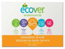 Ecover Tablettes lave-vaiss tout-en-1 40pcs