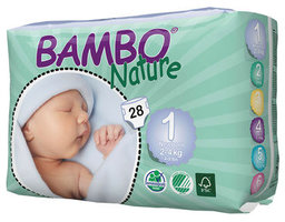 Bambo Nature Couches newborn 1 (2-4kg) 28pcs